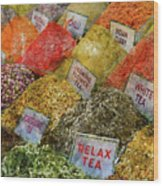Spice Market In Istanbul Wood Print