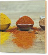 Spices Wood Print