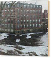 Spicket River Mill Condo Wood Print