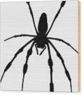 Spider Card Wood Print