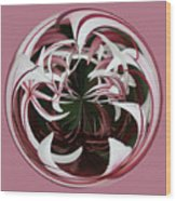 Spider Lily Orb Wood Print