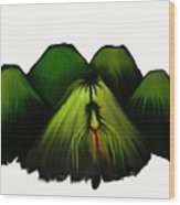 Spider Volcano Progression 2 Wood Print
