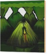 Spider Volcano Progression 5 Wood Print