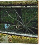 Spider Window Wood Print