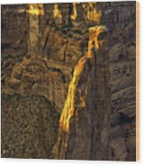 Spider Woman Rock One Wood Print