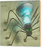 Spiderlamp Wood Print