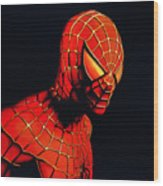 Spiderman Wood Print