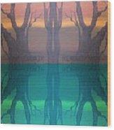 Spiegelungen Wood Print