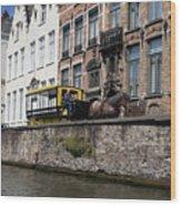 Spieglerei Canal In Bruges Belgium Wood Print