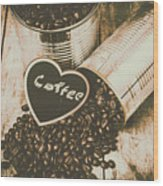Spilling The Beans Wood Print