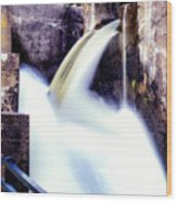 Spillway On The Canal Wood Print