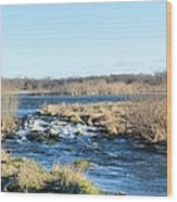 Spillway Panorama Wood Print