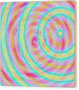 Spin 5 Wood Print
