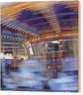 Spin Fast Wood Print