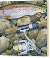 Spin Trout Wood Print by Mark Jennings