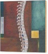 Spinal Column Wood Print by Sara Young