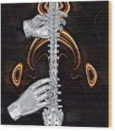 Spine - Instrument Of Life Wood Print by Joseph Ventura