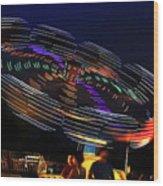 Spinning Lights Wood Print