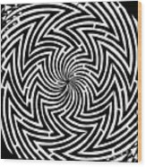 Spinning Optical Illusion Maze Wood Print