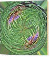 Spinning Pinecone Wood Print