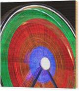 Spinning Wheels Wood Print