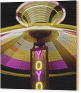 Spinning Yoyo Ride Wood Print