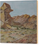 Spinx In The Valley Of Fire Wood Print