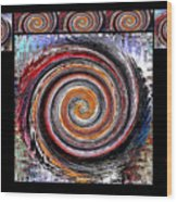 Spiral Frenzy Poster Wood Print
