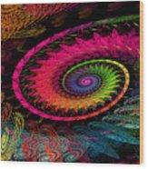 Spiral In  Spirals. Wood Print