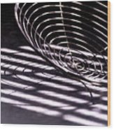 Spiral Shadows Wood Print