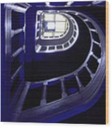 Spiral Staircase Wood Print