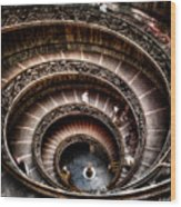 Spiral Staircase No2 Wood Print
