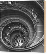 Spiral Stairs Horizontal Wood Print