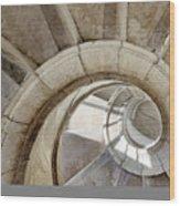 Spiral Stairway Wood Print