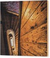 Spiral Stairwell Wood Print