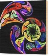 Spiral Toucan Wood Print