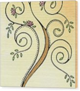 Spiral Tree Wood Print by Nora Blansett