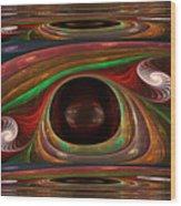 Spiral Warp Wood Print