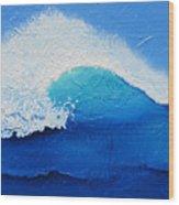 Spiral Wave Wood Print
