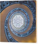 Spiraling Towards The Light Wood Print