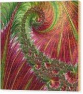 Spiralling Fractal Three Wood Print