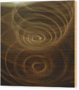 Spirals Of Light Wood Print