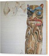 Spirit Bear Wood Print