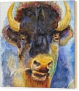 Spirit Buffalo Wood Print