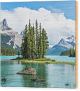 Spirit Island, Jasper National Park Wood Print