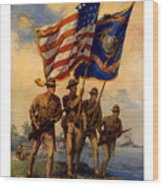 Spirit Of 1917 - Join The Us Marines  Wood Print
