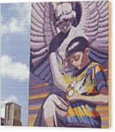 Spirit Of Healing Mural San Antonio Texas Wood Print