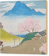 Spirit Of Shinto And Ukiyo-e In The Light Of Nature Wood Print