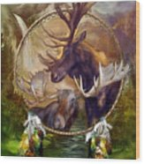 Spirit Of The Moose Wood Print
