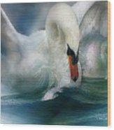Spirit Of The Swan Wood Print